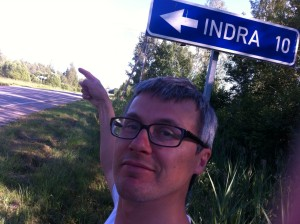 Indra route sign